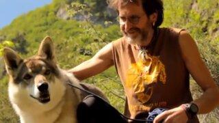 La entrañable amistad entre un italiano y una loba que sorprende a millones