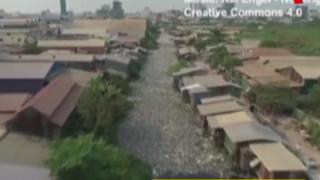 Drone revela grave contaminación de ríos en Camboya