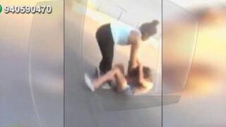 Alumnas protagonizan feroz pelea en exteriores de colegio