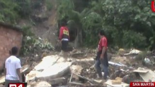 Al menos tres viviendas afectadas por deslizamiento de lodo en San Martín