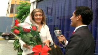 Gyofred y Tilsa protagonizan el reencuentro más romántico del mundo