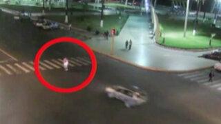 Chimbote: auto atropella a vendedora ambulante y se da a la fuga