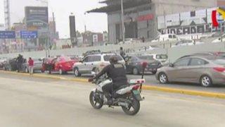 Vía Expresa: persecución policial generó gran congestión vehicular