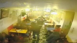 Impactantes imágenes del asalto a una pollería en Chorrillos