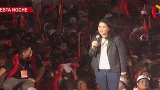 Keiko Fujimori cerró campaña con concurrido mitin en Villa El Salvador