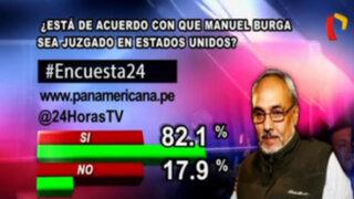Encuesta 24: 82.1% a favor de que Manuel Burga sea juzgado en EEUU