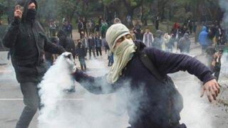 Chile: marcha estudiantil no autorizada deja al menos 10 detenidos