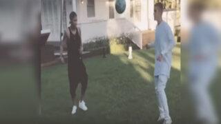 VIDEO: Justin Bieber se luce con el balón al lado de Neymar