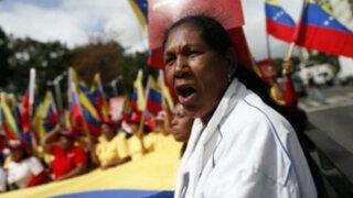 Venezuela: chavistas marchan por Maduro y en rechazo a la OEA