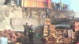 Arequipa: incendio destruye 7 puestos en mercado de frutas
