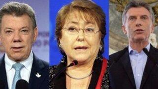Presidentes sudamericanos saludan a PPK por su triunfo en elecciones
