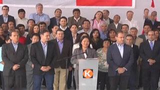 """Keiko Fujimori: """"Aceptamos democráticamente resultados de la ONPE"""""""