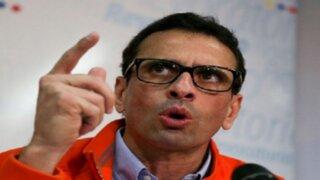 """Capriles: """"Venezuela es una bomba que explotará en cualquier momento"""""""