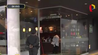 San Borja: balacera afecta local de 'Starbucks'