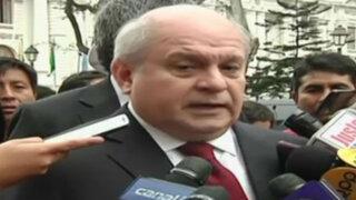 Pedro Cateriano defiende condecoración de Humala a todo su gabinete