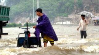 Fuerte temporal de lluvias dejó 78 muertos en China