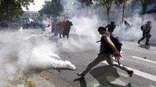 Francia: policía reporta 80 detenidos en protestas laborales