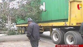 Policía Nacional recupera tráiler robado en cuestión de minutos