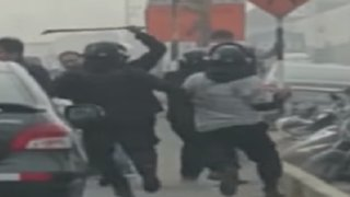 Serenos de Ate golpearon a sujeto por defender a ambulante