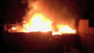Incendio consumió taller de confecciones clandestino en Ate Vitarte