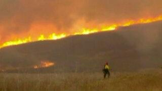 Estados Unidos: Éxodo por incendios forestales en California y Nuevo México