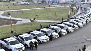 Llegan 200 patrulleros para reforzar labores de la PNP