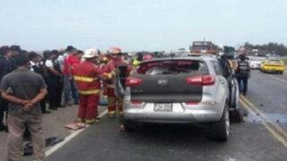 Volcadura de vehículo deja un muerto en Cañete