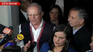 PPK se reunió con Verónika Mendoza y Alfredo Barnechea en San Isidro