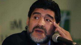 Maradona molesto con sus hijas por no ir a su cumpleaños