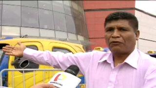 SJM: taxistas de alrededores de Mall Atocongo denuncian agresiones de vigilantes
