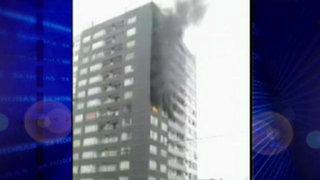Incendio destruyó departamento en edificio de Magdalena