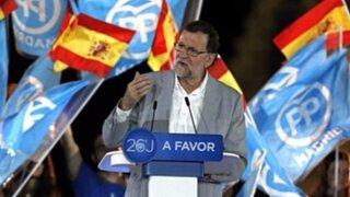 Partido Popular de Mariano Rajoy gana elecciones en España