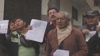 Vecinos de Comas denuncian a Sedapal por incrementos en tarifas