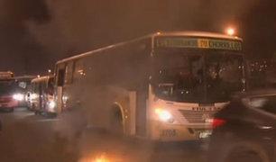 Así fue la violenta protesta contra el corredor SJL-Brasil