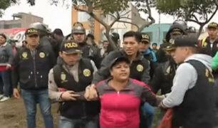 SJL: policías fueron víctimas de violentas agresiones en Jicamarca