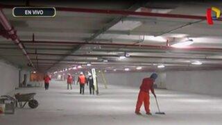 Estacionamientos subterráneos de San Isidro tienen un avance de 95%