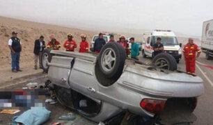 Choque de colectivo con camión  deja tres muertos en Moquegua