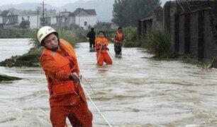 China: inundaciones dejan al menos 10 muertos en provincia de Jiangsu