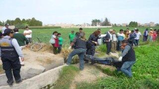 Hallan cadáver de hombre en canal de regadío de Huaral