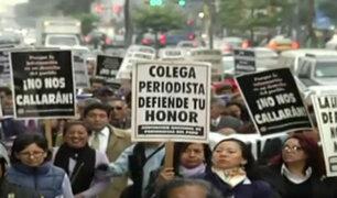Gremios de periodistas marcharon en solidaridad con Panorama