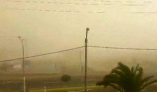Fuerte ventarrón genera pánico y alarma en Tacna