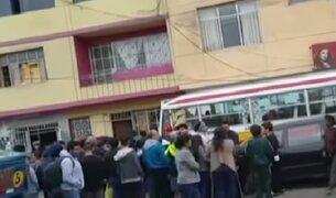 Mujer policía fue atropellada por combi en el Callao