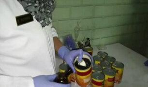 Callao: decomisan más de 30 kilos de droga escondidos en latas de conserva
