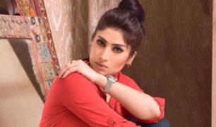 Pakistán: famosa modelo fue asesinada por su hermano