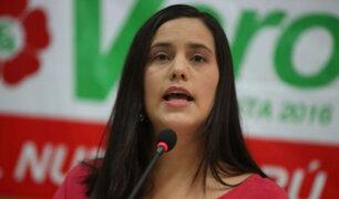 Verónika Mendoza asegura que fujimorismo pretende revivir el terrorismo