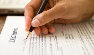 Sunarp: recomiendan registrar testamentos y evitar futuros inconvenientes