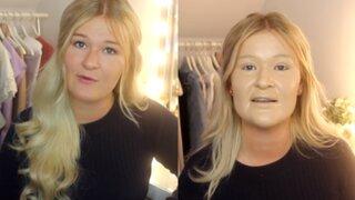 YouTube: así quedó el rostro de una joven con cien capas de maquillaje