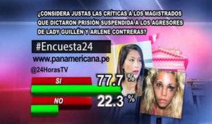 Encuesta 24: 77.7% considera justas las críticas hacia jueces que dictaron polémicas sentencias
