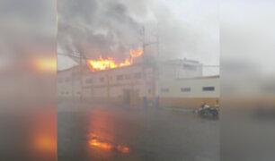 Rímac: reportan incendio en centro de salud
