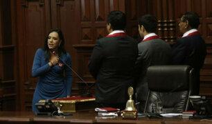 Marisa Glave e Indira Huilca causaron polémica durante juramentación